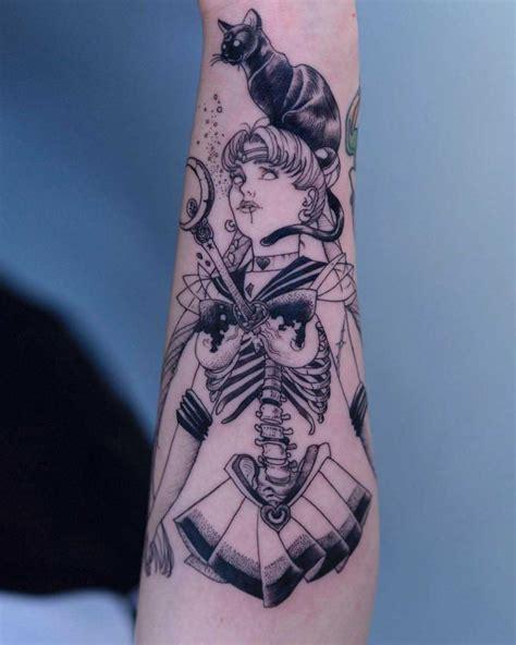 sailor moon tattoo skeleton  tattoo ideas gallery