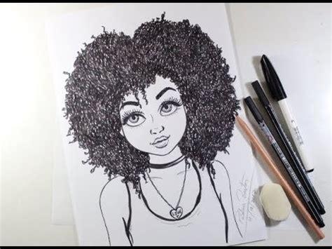 como desenhar garota cacheada passo a passo 451 youtube