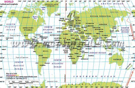 World Latitude And Longitude Map, World Lat Long Map