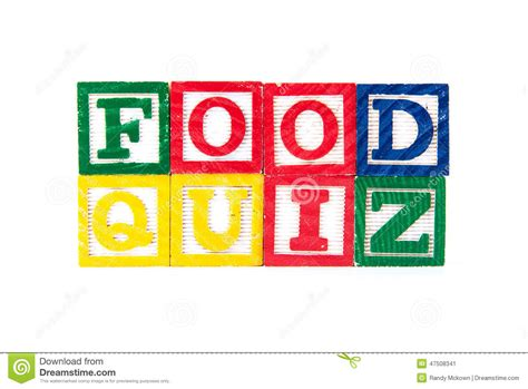 quiz cuisine food quiz alphabet baby blocks on white stock image image 47508341