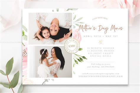 mommy  mini session template flyer templates