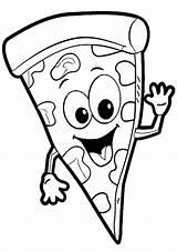 Pizza Coloring Tulamama sketch template