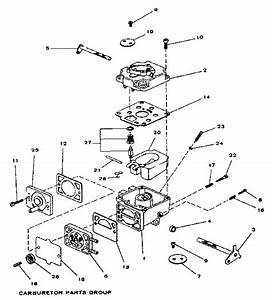 Carburetor Parts Group Diagram  U0026 Parts List For Model