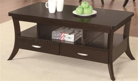 702508 Coffee Table By Coaster In Espresso W/options