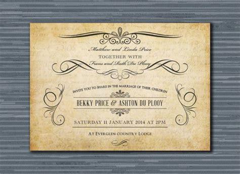 vintage wedding invitation templates psd ai