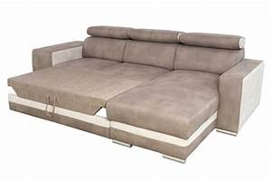 canape d39angle reversible et convertible miami beige creme With canape dangle reversible