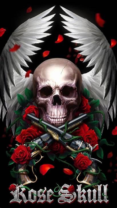 Skull Roses Rose Wallpapers Tattoo Skulls Background