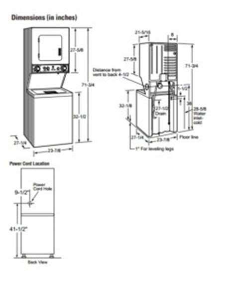 washer and dryers dimensions of washer and dryer