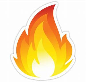 """""""Fire Emoji"""" Stickers by Ethan Williams Redbubble"""