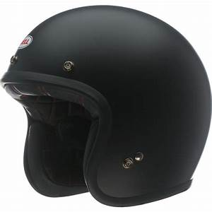 Bell Custom 500 Matte Black Motorcycle Helmet Open Face ...