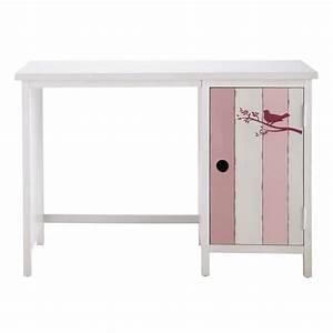 Bureau Enfant En Bois : bureau enfant en bois rose et blanc l 110 cm violette ~ Teatrodelosmanantiales.com Idées de Décoration