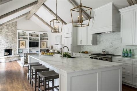 white contemporary kitchen  vaulted ceilings hgtv