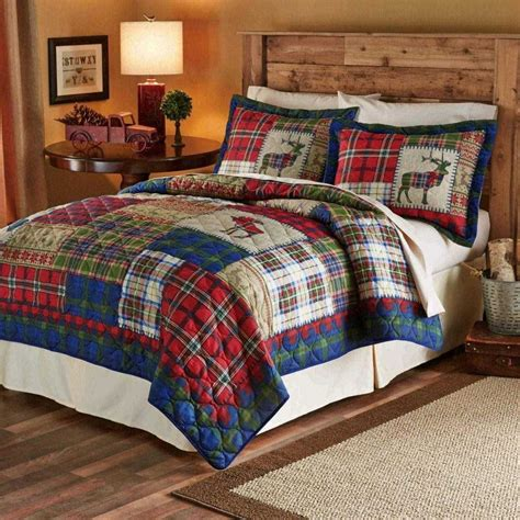 cabin style bedding comforter fab whitetail deer and curtains lodge rustic