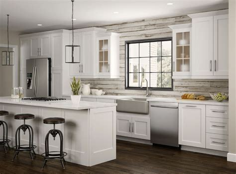 newport wall cabinets  pacific white kitchen