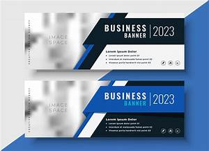 Professional, Blue, Business, Banners, With, Image, Space