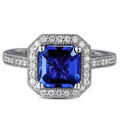 antique sapphire engagement rings antique 1 carat princess cut sapphire and engagement ring in white gold jewelocean