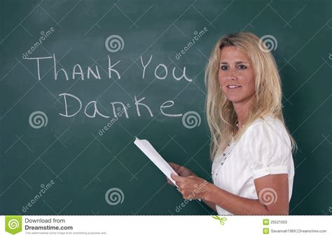 teacher explaining foreign language stock  image