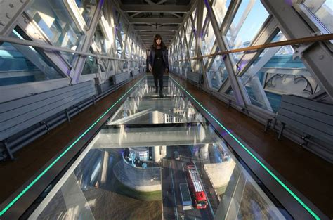 river thames floor tower bridge unveils new glass viewing platform to the 1969