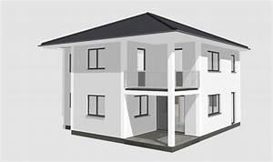stadtvilla mit balkon und uberdachter terrasse haus With französischer balkon mit garten 40 qm