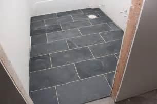 12 x 24 quot montauk black slate tiles floors tile running and home depot