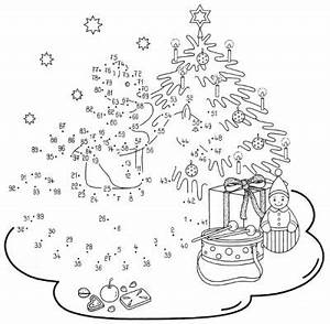 Dessin De Noel A Relier Put The Xmas Tree Up Coloring Pages