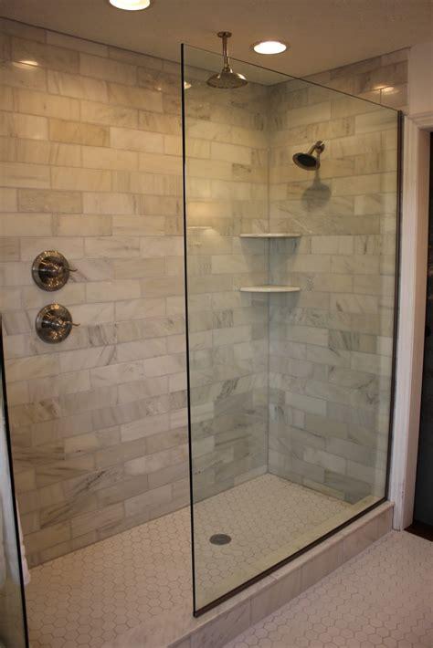 bathroom tile styles ideas doorless walk in shower designs shower handle on separate