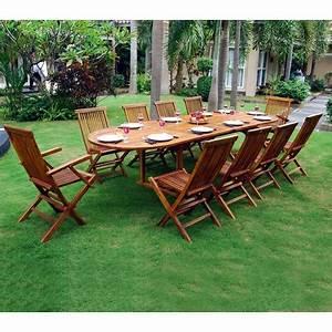 Salon De Jardin 12 Places : ensemble salon de jardin en teck huil 10 12 places table ovale ~ Teatrodelosmanantiales.com Idées de Décoration