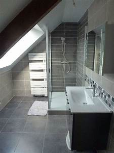 refection d39une salle de douche sous comble realisation With agencer une salle de bain