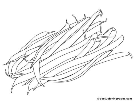 Kidney Beans Coloring Pages | Happy Bean Day! | Coloring ...