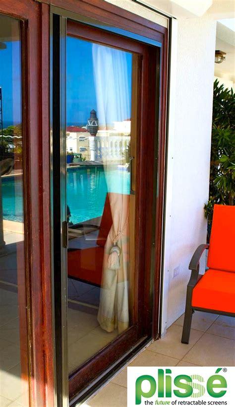 option  sliding glass door screens  plisse