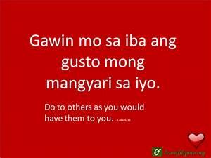 Filipino Love Q... Tagalog English Quotes