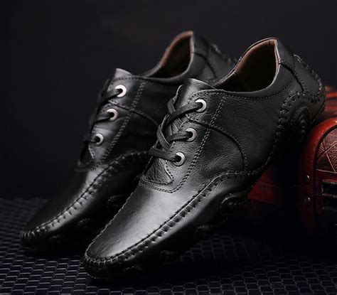 Wholesale Men Leather Dress Shoes Male Flat Loafer
