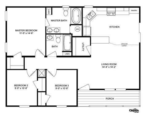 basic floor plan floor plan for the lakeview lvw32403aclayton homes home