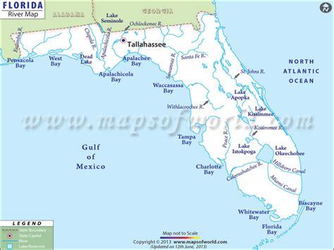 buy florida rivers map