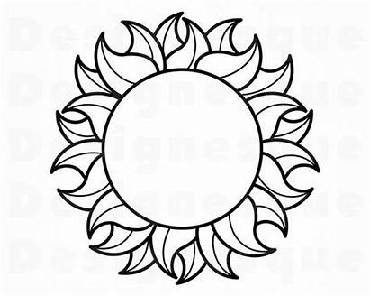 Sun Outline Svg Clipart Clip Cricut Templates