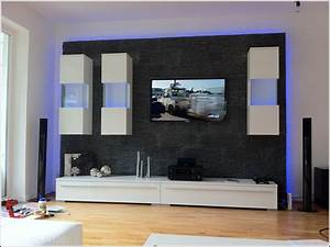 Tv Wand Modern : wohnzimmer tv wand modern wohnzimmer house und dekor ~ Michelbontemps.com Haus und Dekorationen