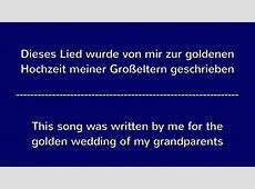 Lied zur goldenen Hochzeit Song for golden wedding