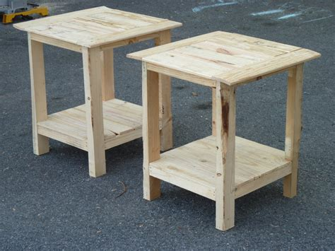 ana white tryed side table  shelf diy projects
