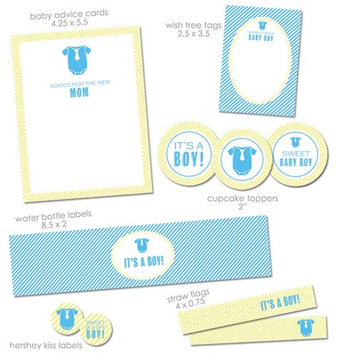 Theme  Free Printable Baby Shower Invitations For Boys