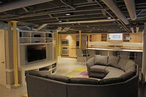 Contemporary Basement Remodel - Contemporary