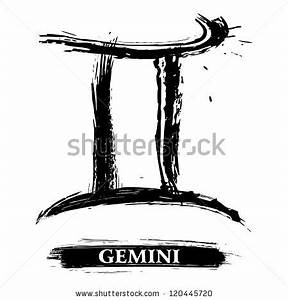 Gemini symbol - stock vector