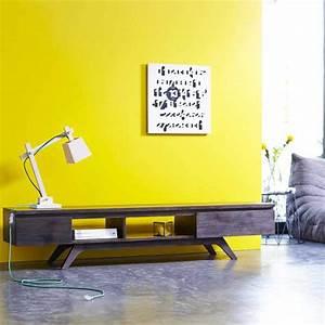 Meuble Tv Bois Foncé : 47 id es d co de meuble tv ~ Teatrodelosmanantiales.com Idées de Décoration