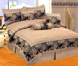 new 7 piece queen black bear comforter set cabin lodge log
