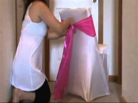 chaise mariage comment faire un noeud sur une housse de chaise