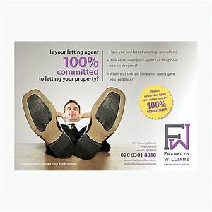 Is Your Letting Agent 100  Committed Flyer Design