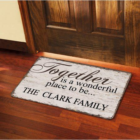 Personalised Doormat by Personalized Quot Together Is A Wonderful Place To Be Quot Doormat