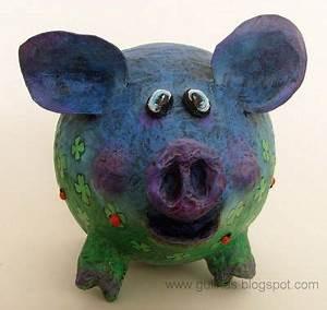 Sparschwein Aus Pappmache : gulnas 39 kunstblog sparschwein in der pappmach technik basteln sparschwein pappmache und ~ Orissabook.com Haus und Dekorationen