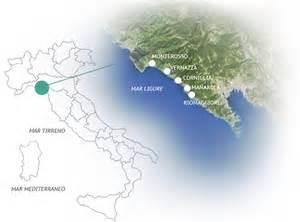 Les Cinq Terres En Italie Carte by Cinque Terre Italie