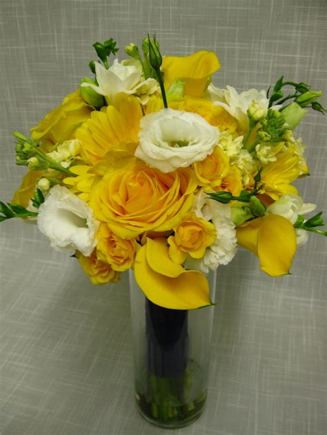 yellow flower arrangements images  pinterest