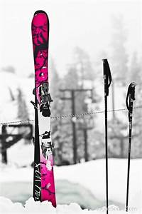Pink skis | ♥ Pinktabulous ♥ | Pinterest